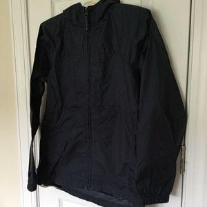 NWOT Lands End Navy Windbreaker Rain Jacket